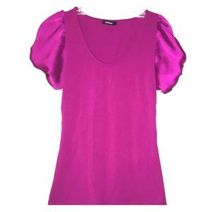 EXPRESS FUCHSIA  BOW BLOUSE